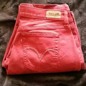 Levis 505 rust color jeans like new
